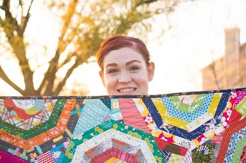 Kara with the Maple Leaf Rag Quilt