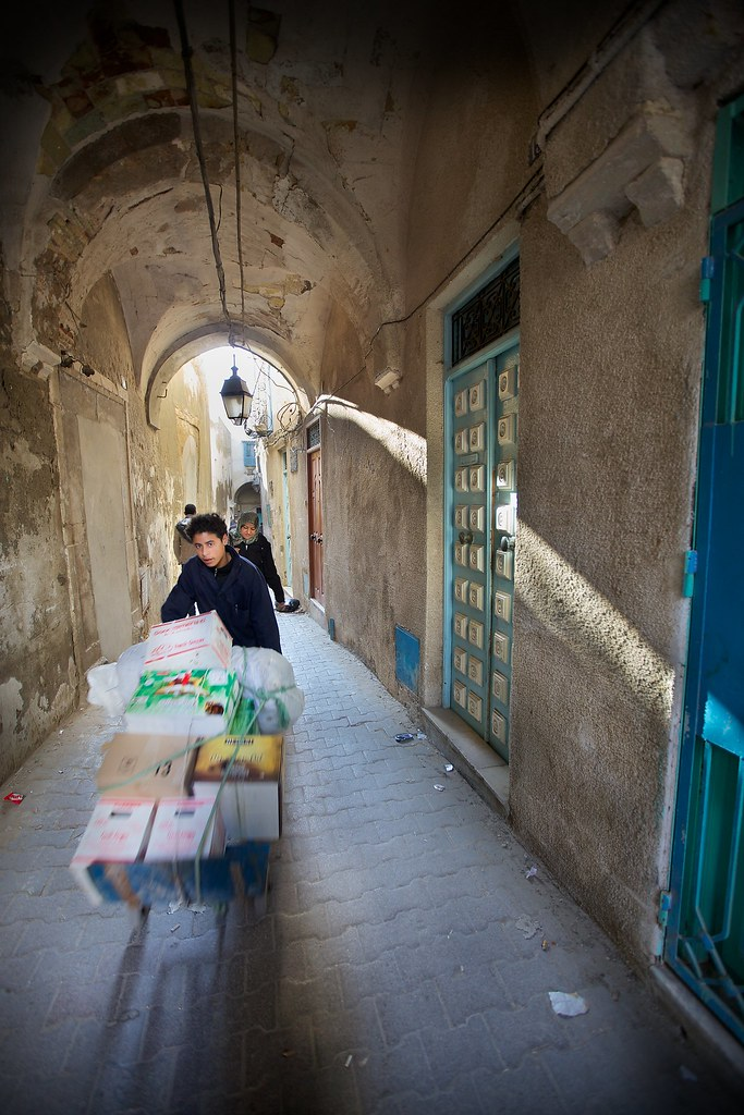 People in Passageways, Medina, Tunis (2)
