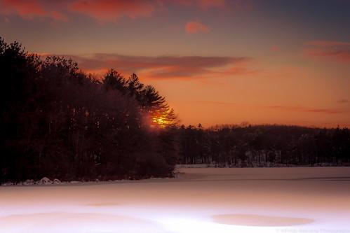 sunset night southboroughma pwwinter pwpartlycloudy