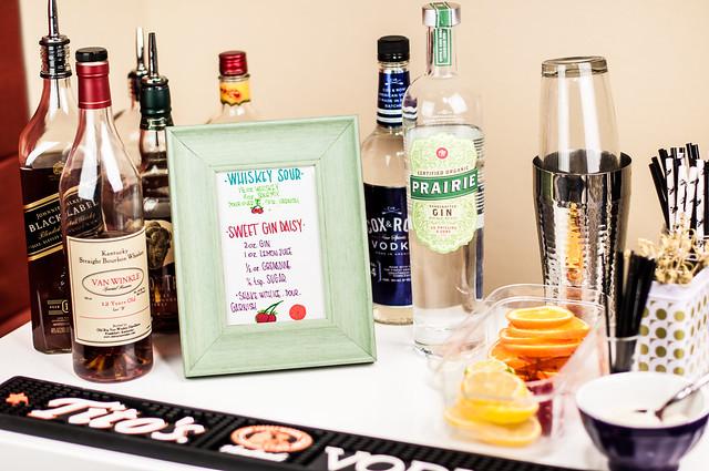 DIY bar cart menu in_the_know_mom #rubbermaidsharpie