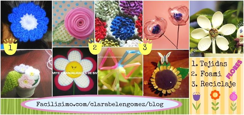 Flores distintos materiales