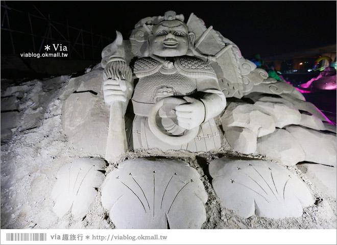 【2014台灣燈會在南投】南投沙雕燈會~夜間點燈好浪漫!還有精彩光雕秀17