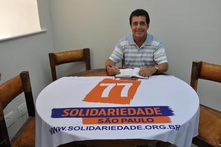 Valdir Alvarenga, vereador em São José dos Campos, visita o Solidariedade-SP