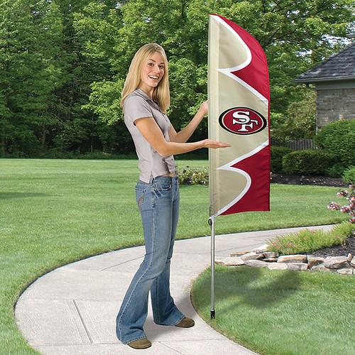 San Francisco 49ers Short Feather Flag