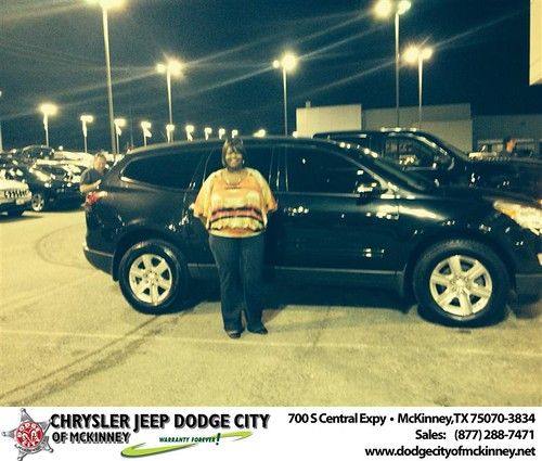 Thank you to Jennifer Jones on your new 2012 #Chevrolet #Traverse from Dale Graham Graham and everyone at Dodge City of McKinney! by Dodge City McKinney Texas