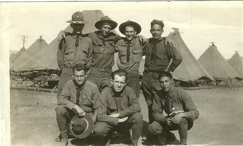 DAD BOTTOM MIDDLE NATIONAL GUARD CAMP SAN LUIS OBISPO CA. 1928