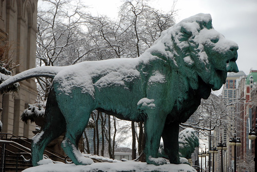 Snow Covered Guardian Lion, Chicago Institute of Art, March 12, 2014 209 full bp