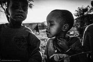 Kids in a Maasai village