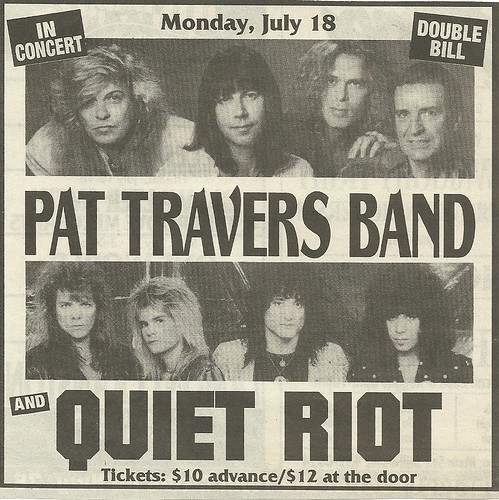 07/18/94 Pat Travers Band/ Quiet Riot @ Iron Horse, Crystal, MN