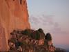 soleil levant sur le château de Montsegur