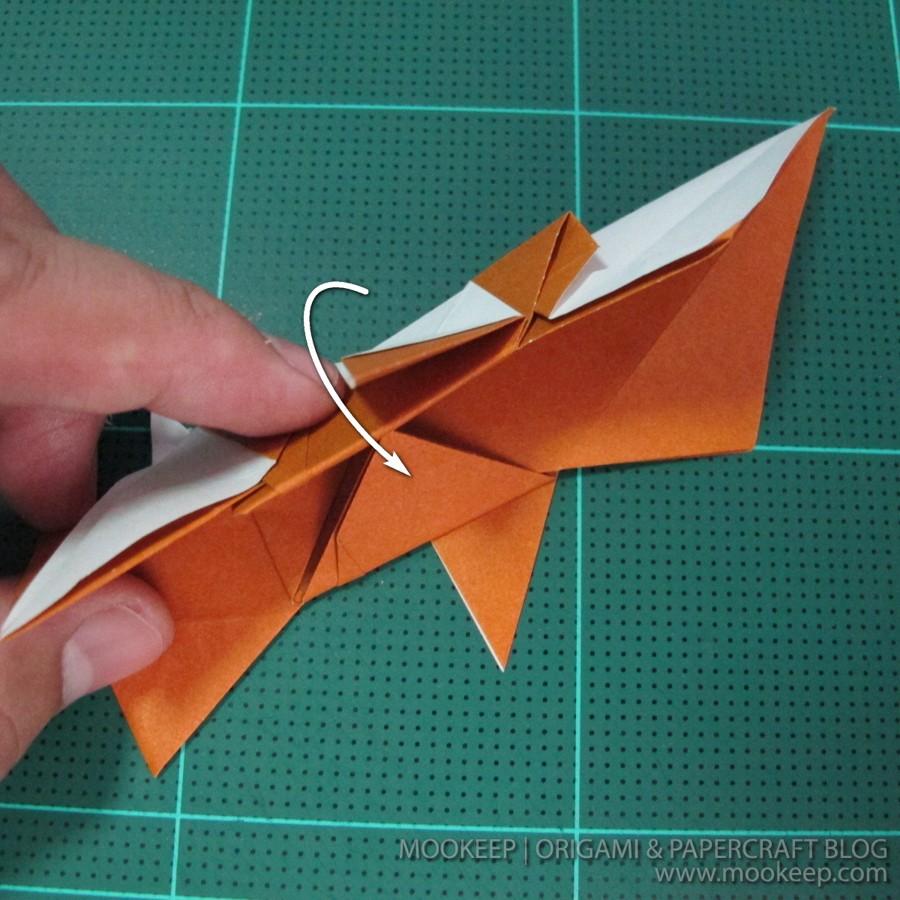 วิธีพับกระดาษเป็นรูปหมี (Origami Bear) 026