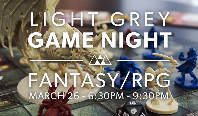 Light Grey Game Night
