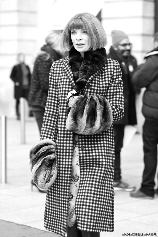 Anna Wintour, Street style Paris fashion week  PFW