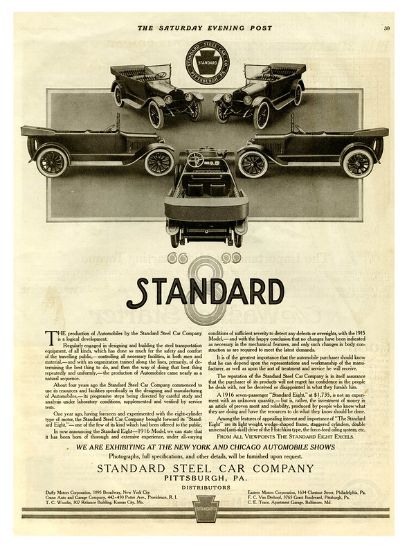 1916 Standard Eight - Standard Steel Car Company