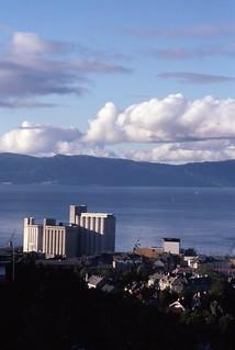 Utsikt mot Ila og Trondheim kornsilo (1989)