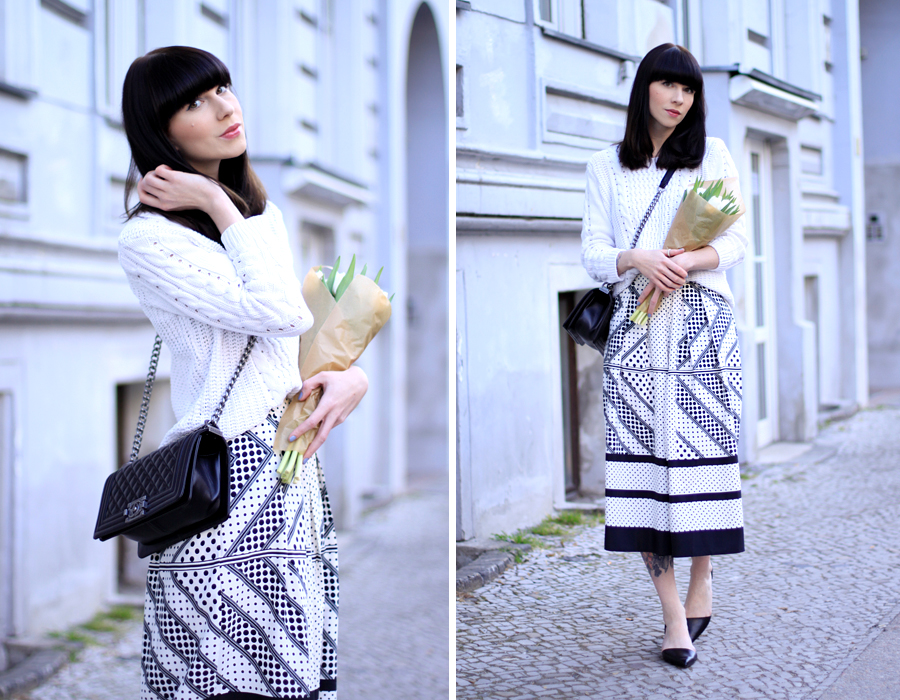 Spring outfit look asos pants pattern white look minimalist romantic CATS & DOGS fashion blog berlin 5