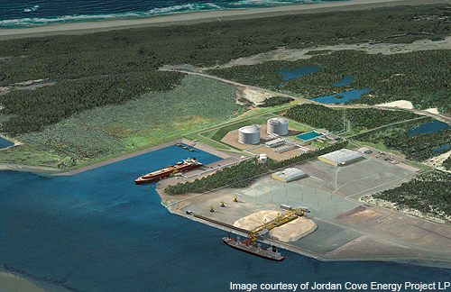Artists rendering of Jordan Cove