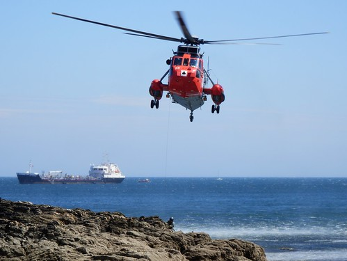 Sea King Rescue Helicopter, Falmouth, Cornwall