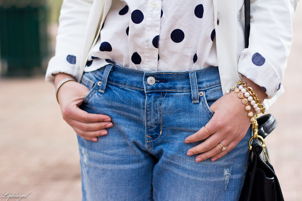 polka dot shirt, white blazer, boyfriend denim-4.jpg