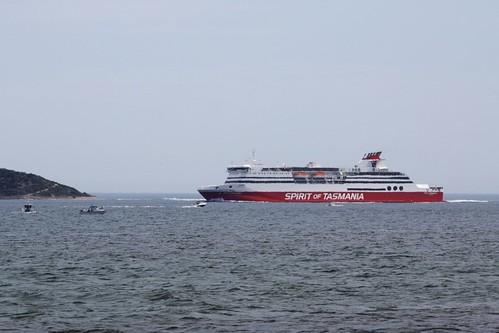Spirit of Tasmania I enters Port Phillip Bay
