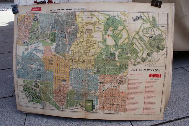 Une carte de Barcelone.
