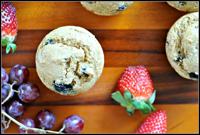Healthy Whole Wheat Blueberry Muffins 2