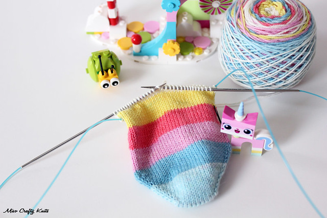 Princess Unikitty Sock WIP 2