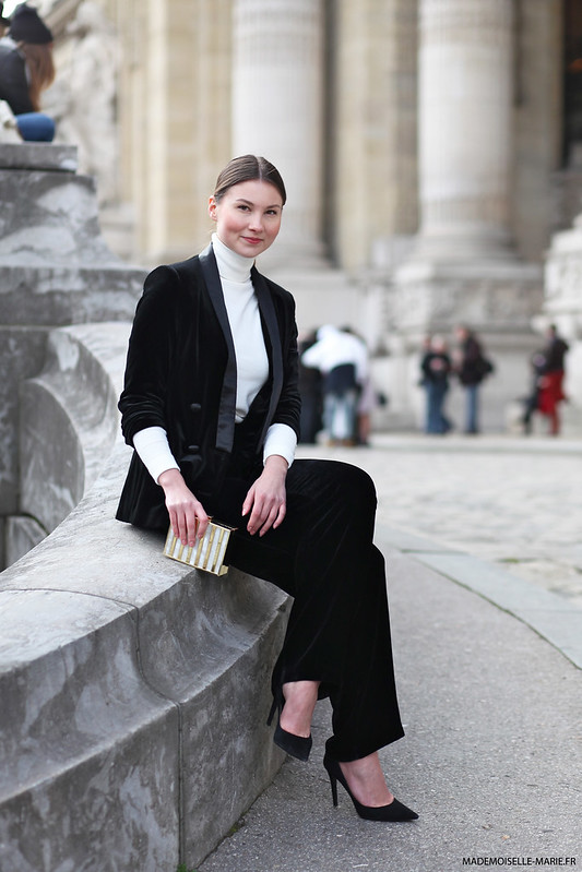 Angelica at Paris fashion week