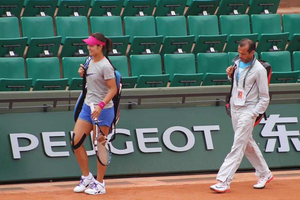 Li Na and Carlos Rodriguez