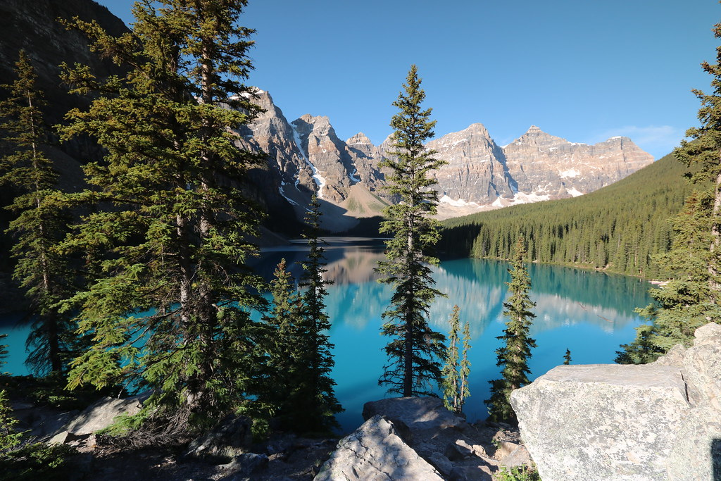 Moraine lake Alberta Canada July 4th 2015