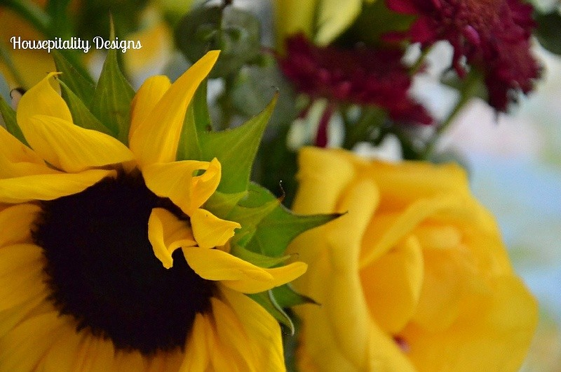 Sunflowers and Roses-Housepitality Designs