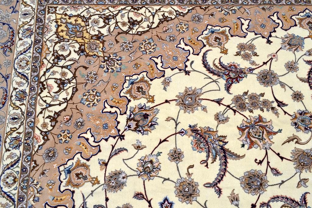 Isfahan Oversize Persian Area Rug Handwoven 12x17 silk base  (14)