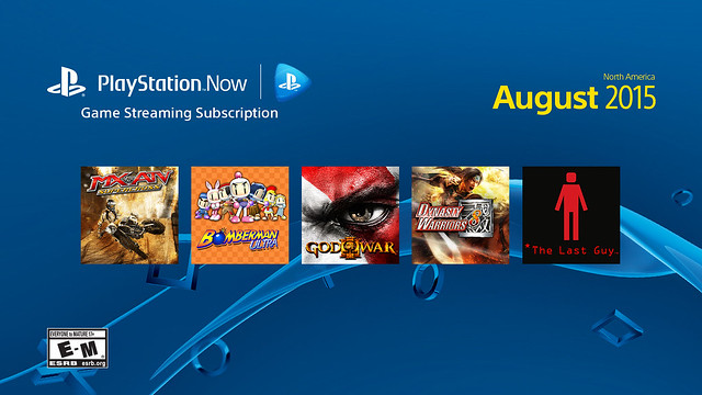 PS Now, August 2015