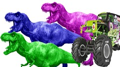 Learn Vechicles   Nursery Rhymes   Monster Truck Colors for Children - Learning Educational Video