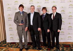 Ed Owens of the U.S Department of Energy (2nd left) presents Virginia Tech with the Best Static Consumer Acceptability award