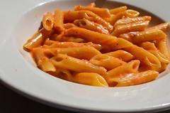 pasta, penne, pasta pomodoro, penne alla vodka, food, dish, cuisine,