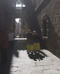 Shadows in the Gothic Quarter...