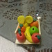 Miniatura de frutas hecha con fimo