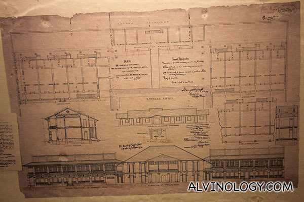 Layout of the Raffles Hotel Singapore at the very beginning