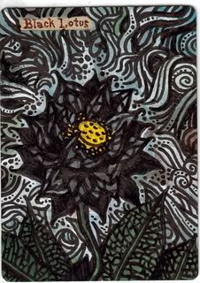 Black Lotus altered art magic the gathering black lotus proxy