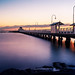 pier in sunset - port Melbourne by john@aus