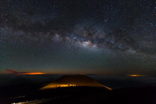 Haleakala Moonrise and Milky Way