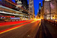 Chicago Street Light Trails