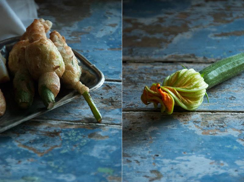 Flor de courgette recheada