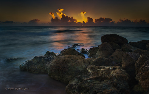 sunrise rocks deerfieldbeach beachrocks oceansunrise rockysunrise deerfieldsunrise