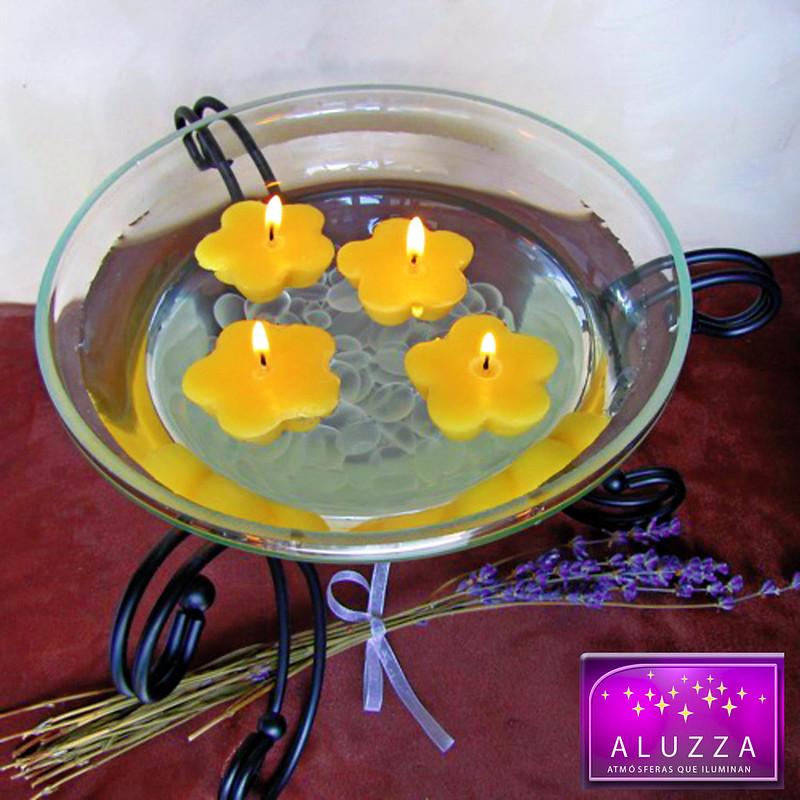 Vela flotante para centro de mesa de bodas o decoración de interiores, velas que flotan, aluzza