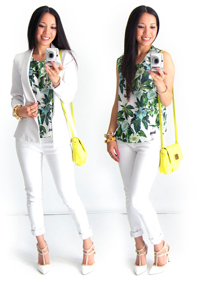 Tropical White Out Outfit