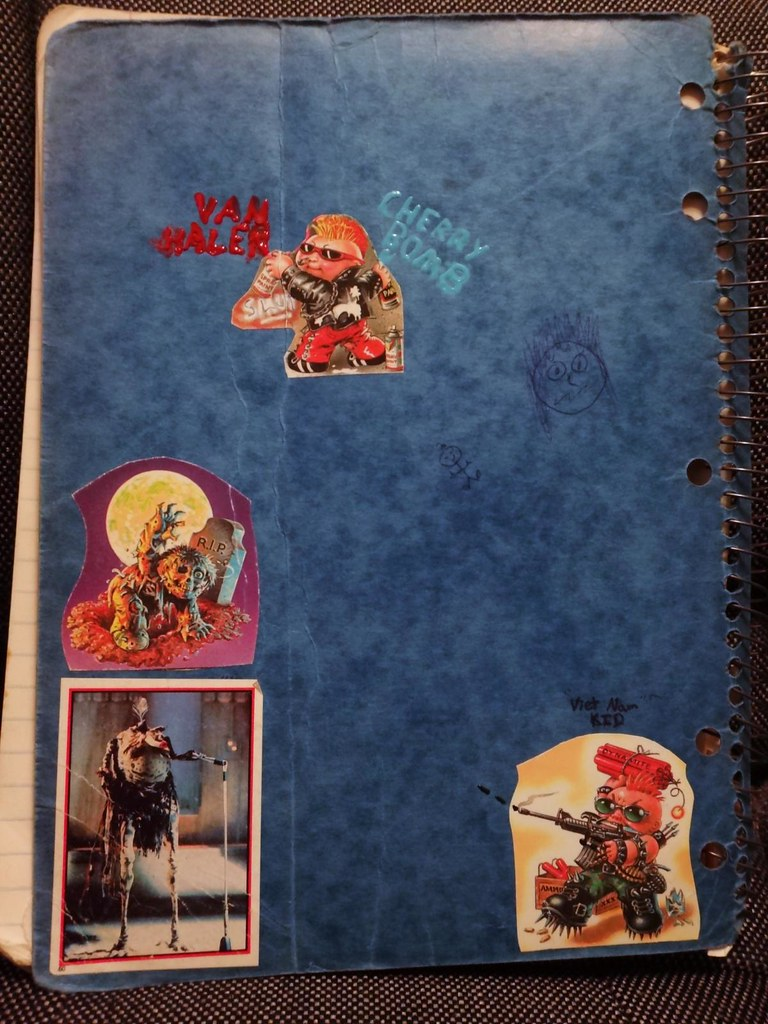 notebook cover garbage pail kids sy snootles stickers