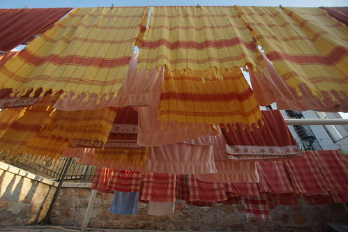Towels drying outside the Ali Pasha Hammam in Tokat by CharlesFred
