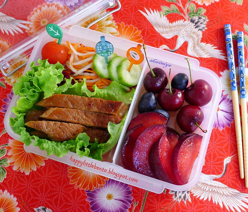 Pork in Lettuce Wrap Bento by sherimiya ♥